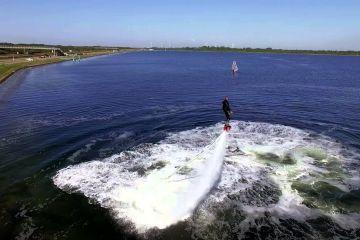 Fly-boarden op het Veerse Meer krijgt zo een extra dimensie