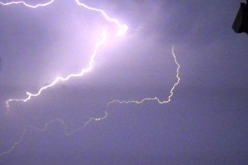 Heftig onweer boven Zeeland