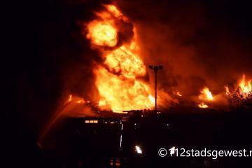 Voormalig discotheek Cheesy Biggekerke gaat in vlammen op