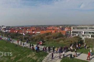 WOW! Finish Kustmarathon Zeeland 2015 vanuit de lucht!