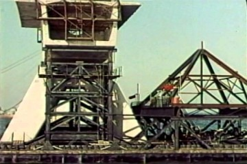 Historische beelden van bouw Zeelandbrug