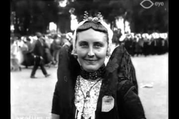 Koningin Wilhelmina bezoekt Middelburg in 1924